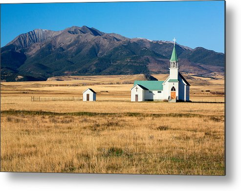 Church Metal Print featuring the photograph Mountain Chapel by Todd Klassy
