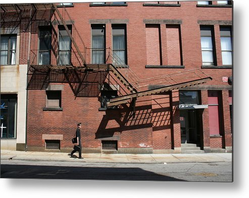 Street Metal Print featuring the photograph Moving Along by Jeff Porter