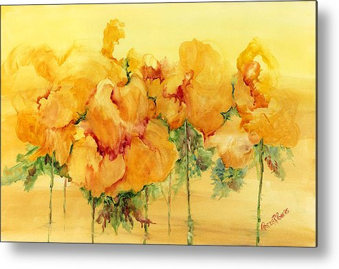 Flowers Metal Print featuring the painting Multiple Choice by Priscilla Powers
