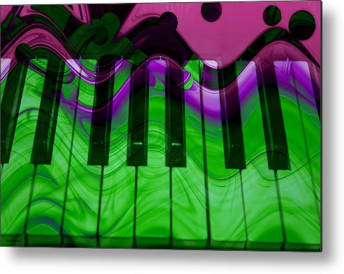 Music In Color Metal Print featuring the photograph Music In Color by Linda Sannuti