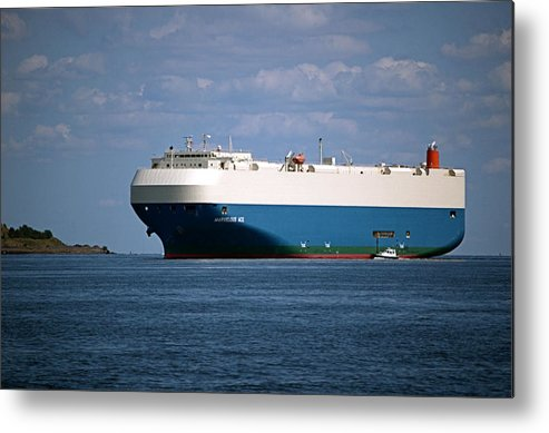 Ship Metal Print featuring the photograph Mv Marvelous Ace Inbound Port Of Baltimore by Wayne Higgs