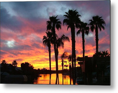 Sunset At The Islands Metal Print featuring the photograph My Backyard by Dan Hausel