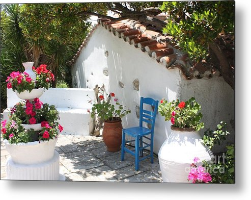 Greece Metal Print featuring the photograph My Greek Garden by Yvonne Ayoub