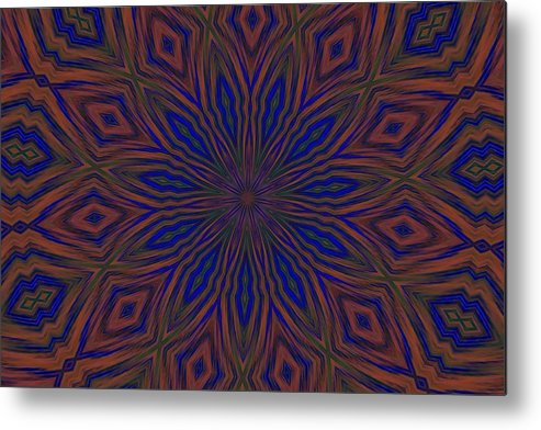 Psychedelic Metal Print featuring the photograph My Happy Place by G Berry