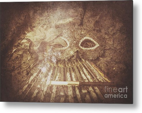 Classical Metal Print featuring the photograph Mysterious Vintage Masquerade by Jorgo Photography - Wall Art Gallery