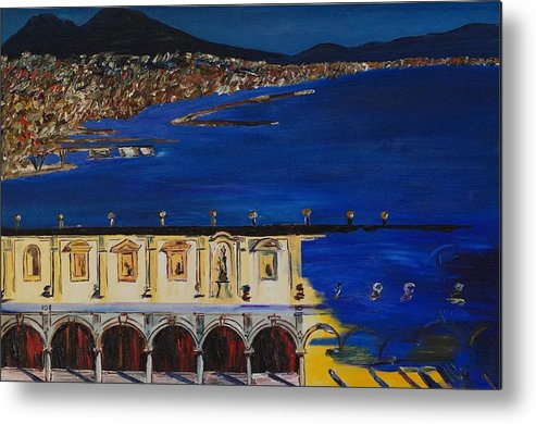 Italy Metal Print featuring the painting Napoli by Gregory Allen Page