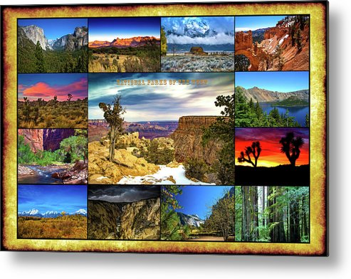 National Parks Metal Print featuring the photograph National Parks Of The West by Richard Cronberg