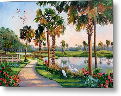 Landscape Metal Print featuring the painting Nature Preserve by Dianna Willman