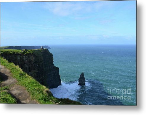 Needle Metal Print featuring the photograph Needle Rock Formation And The Burren Pathway In Ireland by DejaVu Designs