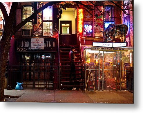 Nyc Metal Print featuring the photograph Neon Lights - New York City At Night by Vivienne Gucwa