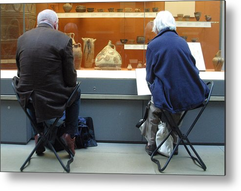 Jez C Self Metal Print featuring the photograph Never Leave Home Without Your Folding Seat by Jez C Self