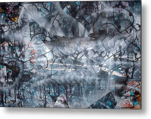 Abstract Metal Print featuring the painting Neverwas... by Leigh Odom