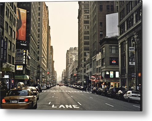 Nyc Metal Print featuring the photograph New York New York by Wes Shinn