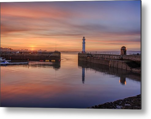 Canon Metal Print featuring the photograph Newhaven Harbour In The Gloaming by Miles Gray