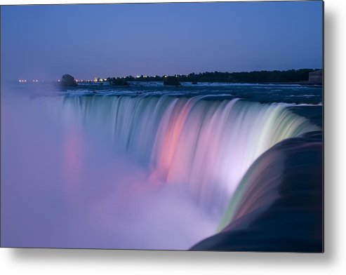 3scape Photos Metal Print featuring the photograph Niagara Falls At Dusk by Adam Romanowicz