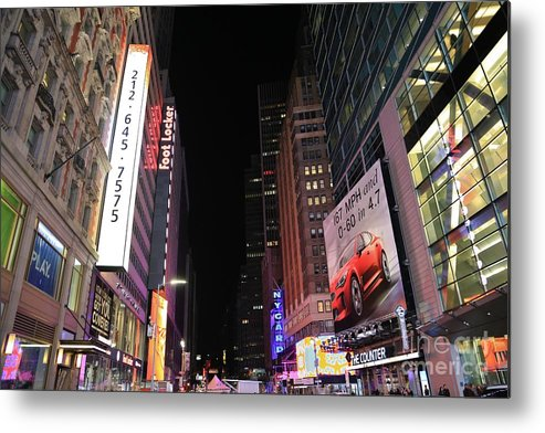 Destination Metal Print featuring the photograph Night Time At Times Square by Douglas Sacha
