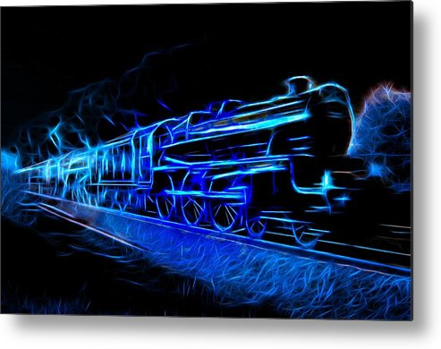 Steam Train Metal Print featuring the photograph Night Train To Romance by Aaron Berg