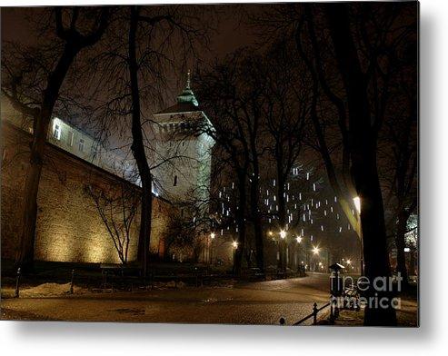 Night Metal Print featuring the photograph Night Walk by Marta Grabska-Press