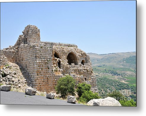 Nimrod Metal Print featuring the photograph Nimrod Fortress National Park by Shay Levy