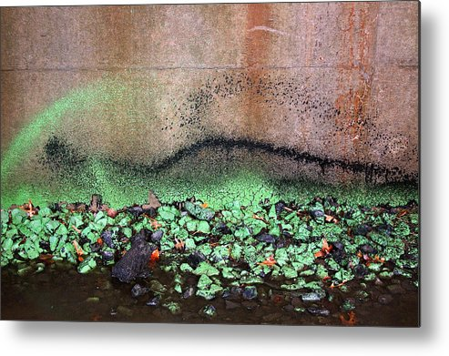 Abstract Metal Print featuring the photograph Nj Abstract Three by Heather S Huston