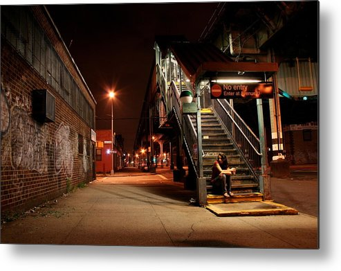 Train Station Metal Print featuring the photograph No Entry by Jason Hochman