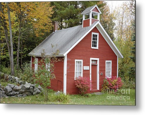 New Hampshire Metal Print featuring the photograph North District School House - Dorchester New Hampshire by Erin Paul Donovan