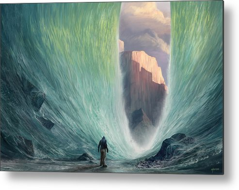 Faith Metal Print featuring the digital art Not By Sight by Steve Goad