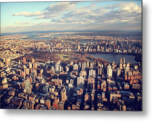 New York Metal Print featuring the photograph Ny Skyline View by Ariane Moshayedi