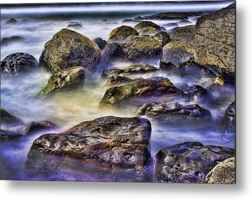 Rocks Metal Print featuring the photograph Ocean Break by Hugh Smith