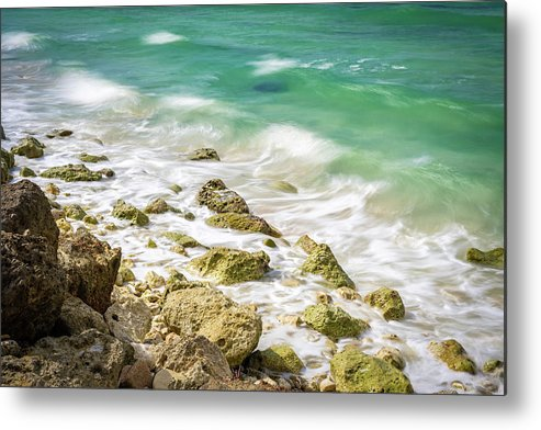 Jamaica Metal Print featuring the photograph Oceanside In Trelawny, Jamaica by Debbie Ann Powell