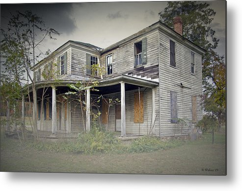 2d Metal Print featuring the photograph Odenton House by Brian Wallace