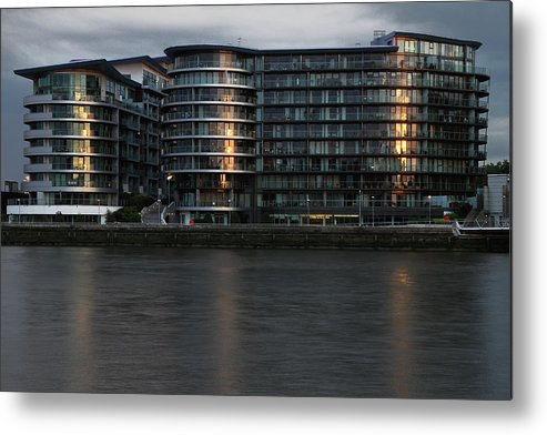 Offices In London Office Metal Print featuring the photograph Offices In London by Adam Sworszt
