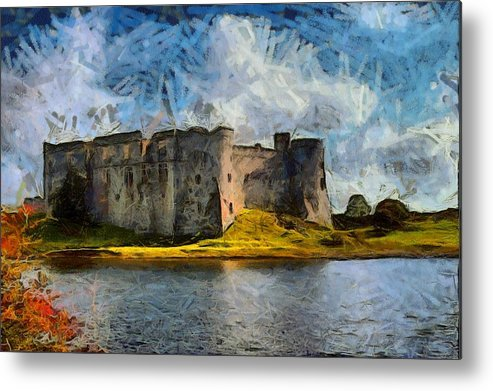 Metal Print featuring the digital art Old Castle by Sergey Kolpashnikov
