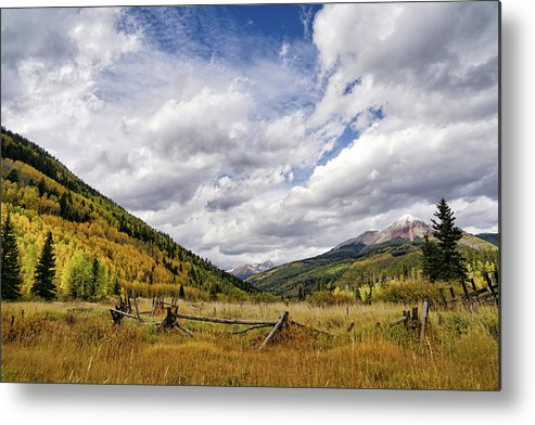 Ponderosa Pines Metal Print featuring the photograph Old Colorado by Leda Robertson