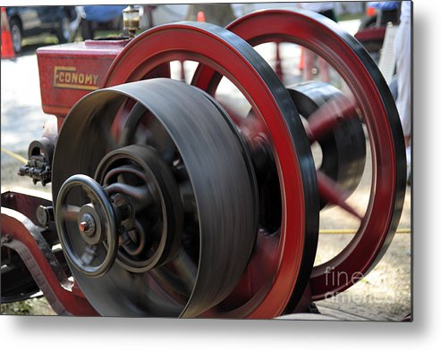 County Fair Metal Print featuring the photograph Old Economy Gas Engine On Display At A County Fair by William Kuta