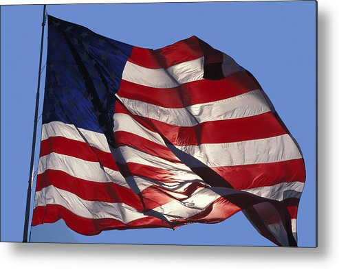 American Metal Print featuring the photograph Old Glory by Carl Purcell