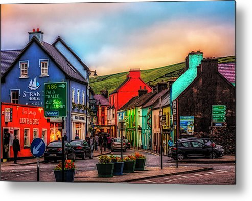 Barn Metal Print featuring the photograph Old Irish Town The Dingle Peninsula At Sunset by Debra and Dave Vanderlaan