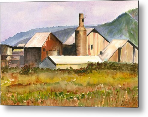 Kauai Metal Print featuring the painting Old Koloa Sugar Mill by Elizabeth Ferris