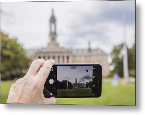 Penn State Metal Print featuring the photograph Old Main Through Iphone by John McGraw