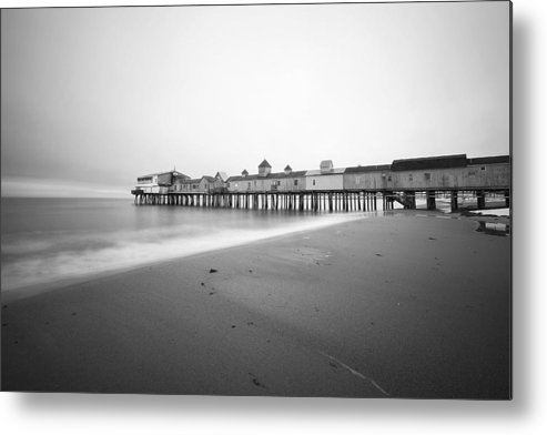 Old Orchard Beach Metal Print featuring the photograph Old Orchard Beach Pier by Eric Gendron