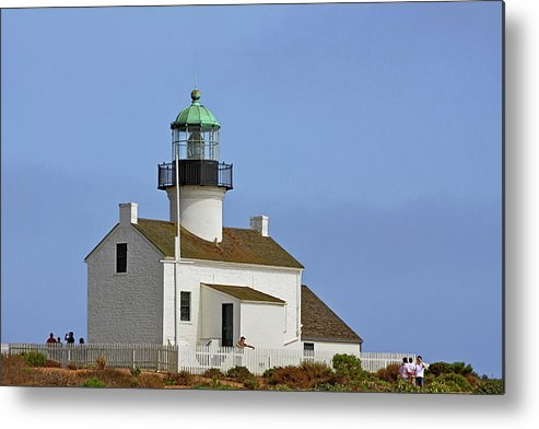 Old Point Loma Lighthouse Metal Print featuring the photograph Old Point Loma Lighthouse San Diego California by Christine Till
