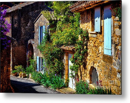Provence Metal Print featuring the photograph Old Provencal Village Street by Olivier Le Queinec