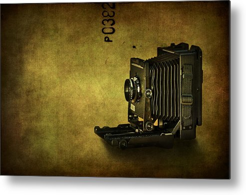 Camera Metal Print featuring the photograph Old School by Evelina Kremsdorf