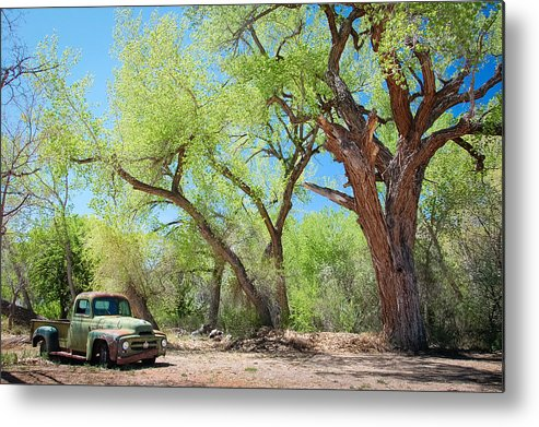 New Mexico Metal Print featuring the photograph Old Truck At Abiquiu by Carolyn Skye