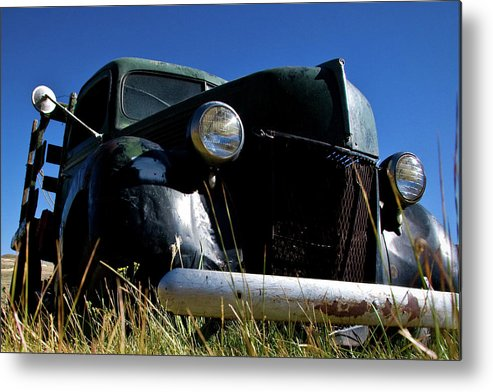 Vintage Vehicle Metal Print featuring the photograph Old Truck At Bodie 1 by Chris Brannen