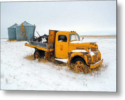 Yellow Metal Print featuring the photograph Old Yellow by Todd Klassy