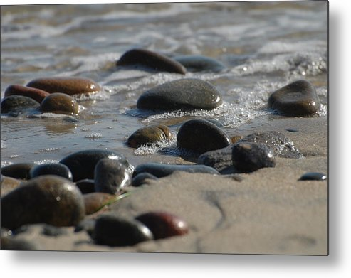 Shore Metal Print featuring the photograph On The Beach by Jean Booth
