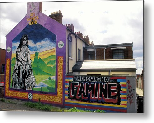 Art; Painting; Mural; Murals; Famine; Death; Pain; Hunger; Starvation; House; Residence; Expression; Metal Print featuring the photograph Once Upon A Famine by Carl Purcell