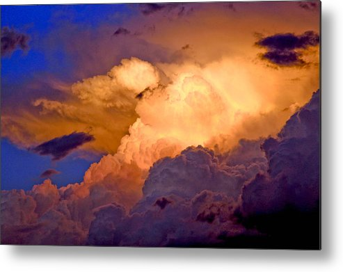 Fine Art Clouds Picture. Fine Art Greetig Cards. Sunset Greeting Cards. Fin Art Sunset Greeting Cards. Sunset Canvas Prints. Red Clouds. Fine Art Sky And Cloud Picture. Fine Art Storm Picture. Blue Sky. Rain Clouds.sunset Picture. Weather Clouds. Summer Clouds.  Metal Print featuring the photograph One Cloudy Afternoon by James Steele
