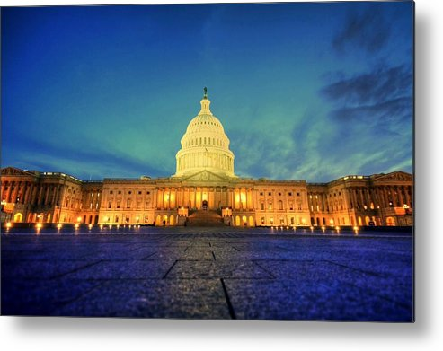 Congress Metal Print featuring the photograph Opinions And Perspectives by Mitch Cat